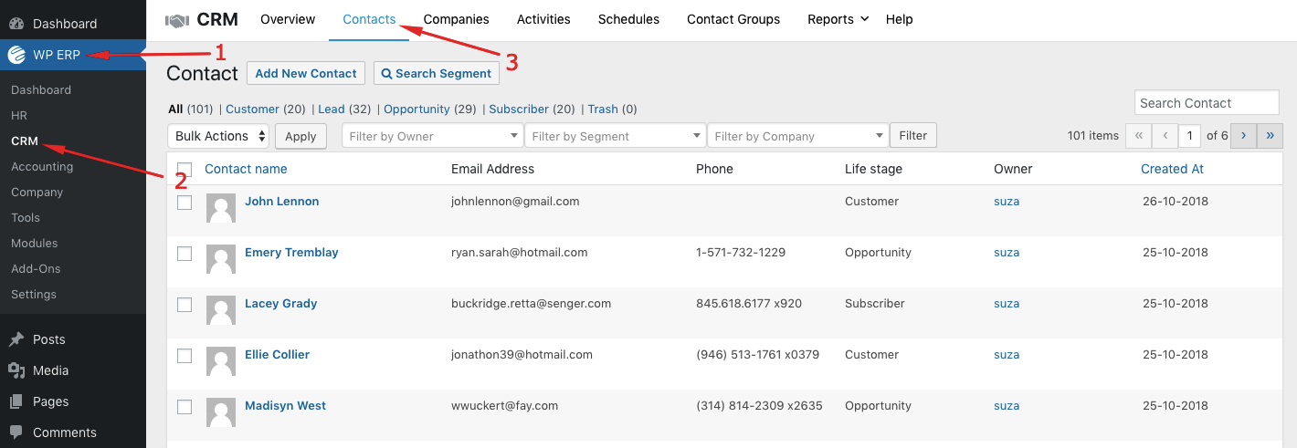 Managing contacts is a part of CRM implementation plan