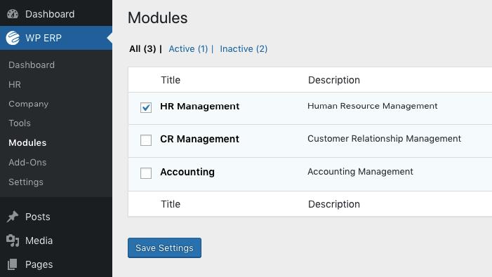 Modules Management