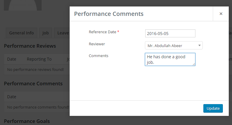 performance comments