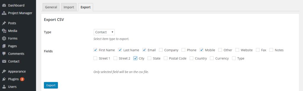 erp user export
