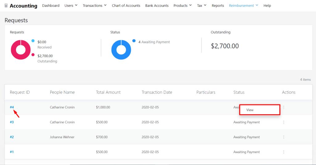 View Invoice_WP ERP Reimbursement