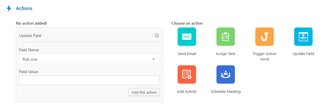 workflow-action-update-field WordPress CRM