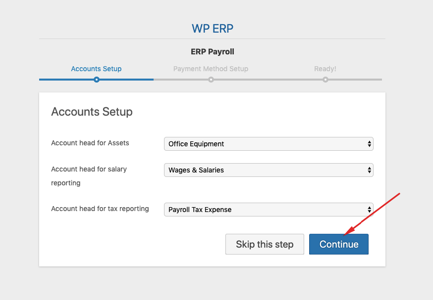 account setup for payroll user guide