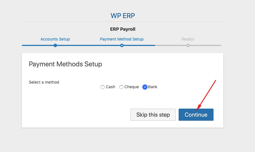 add payment method to erp payroll