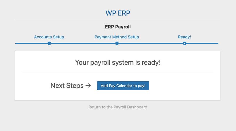 WordPress Payroll Feature Calendar