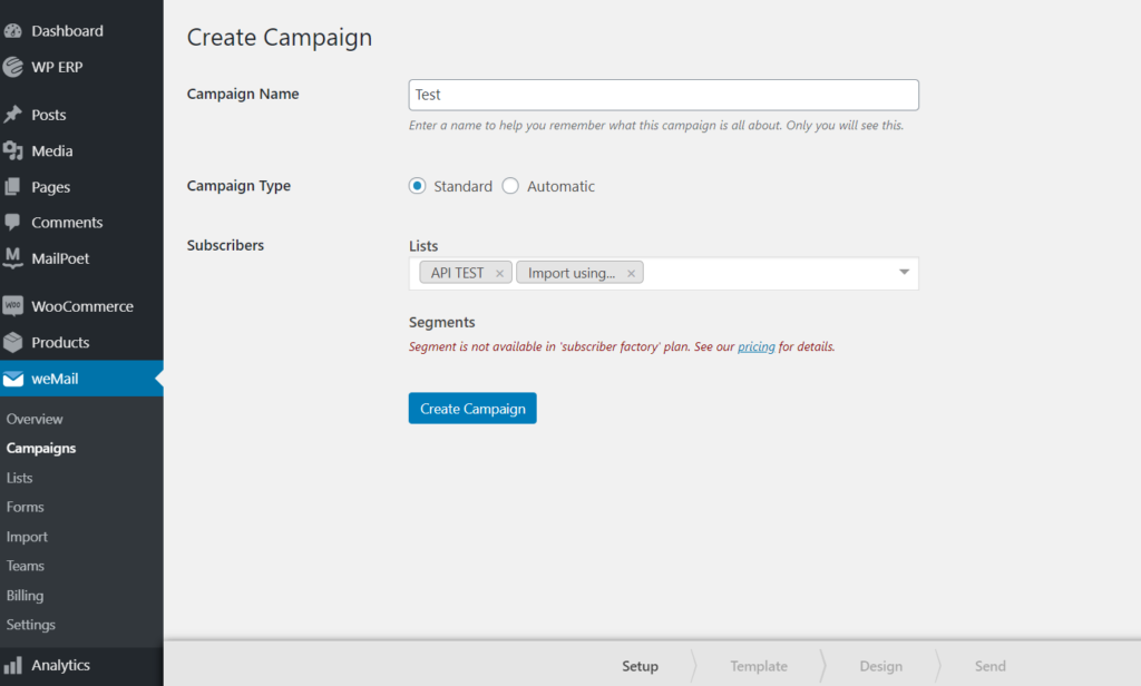 create new campaigns