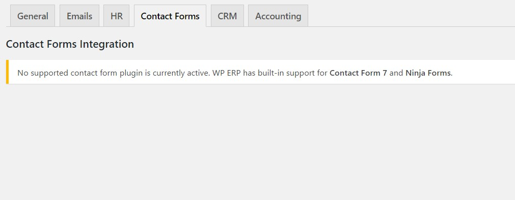 integration with contact form