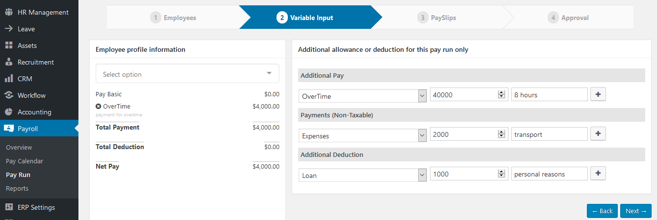 wordpress payroll plugin