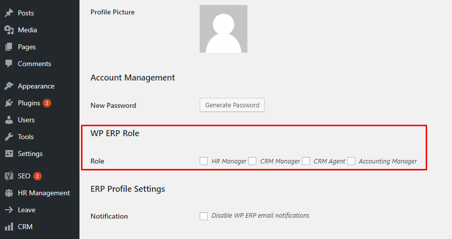 Roles and Permissions In WordPress ERP