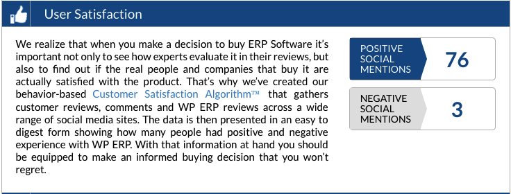 WP ERP wins software Awards from financesonline