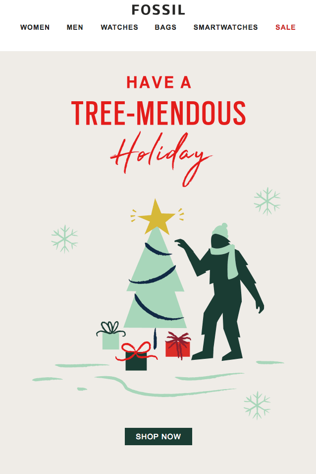 holiday email marketing-Fossil