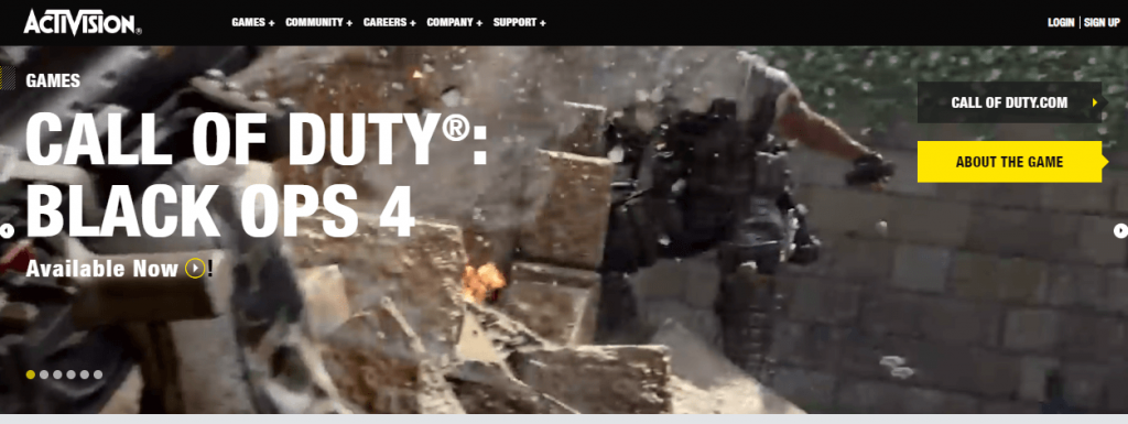 Activision- companies using CRM
