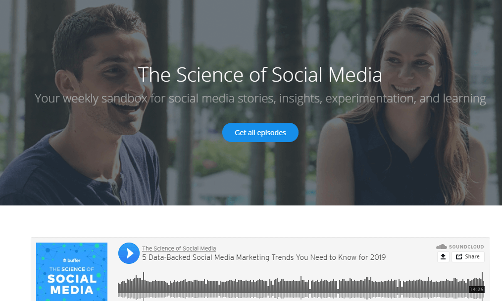 The science of social media- top 50 business podcasts
