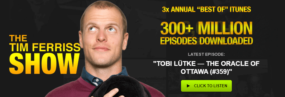 The tim ferriss show- top business podcast