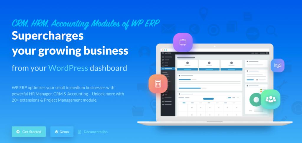 WP ERP homepage
