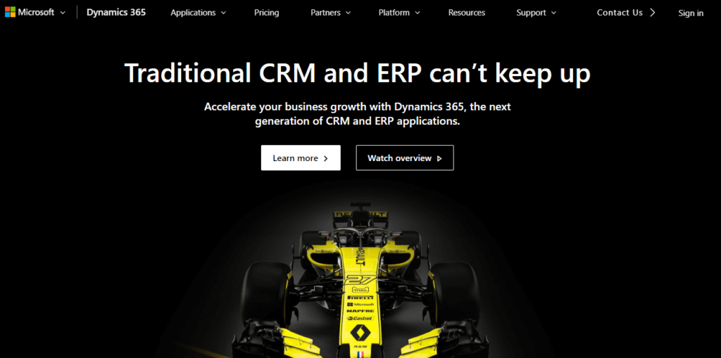 dynamic erp and crm