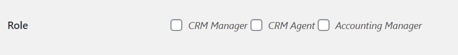 CRM roles