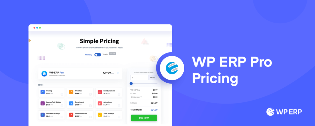 WP ERP Pro Pricing