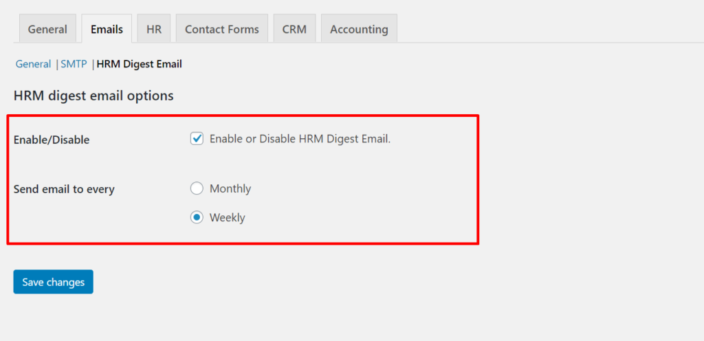 HRM digest email