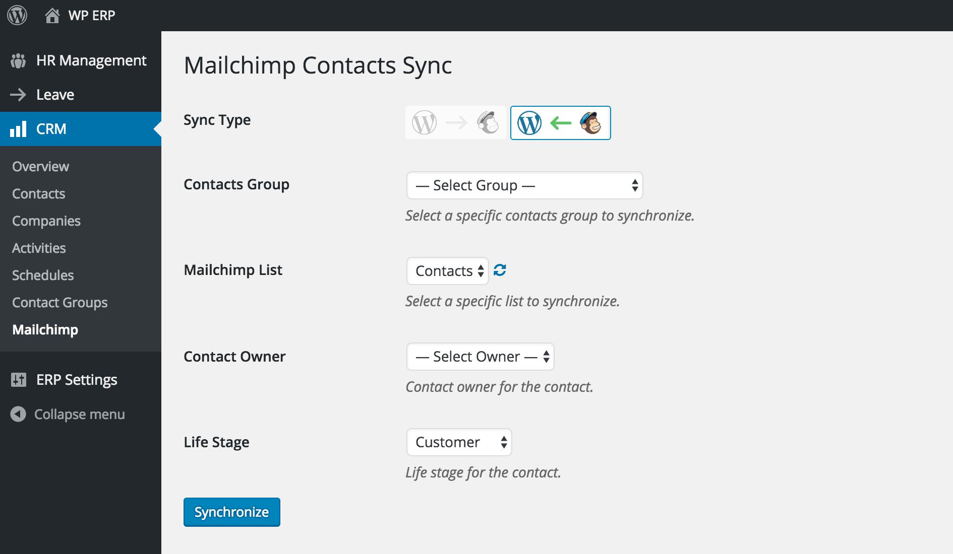Import Mailchimp Subscribers To Wordpress Crm Wp Erp Plugin
